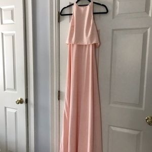 BHLDN Dresses - Blush maxi bridesmaid dress